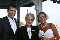 Brisbane Marriage Celebrant with Couple
