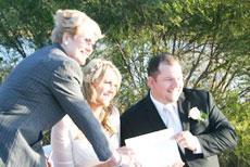 Celebrant at Wedding Ceremony
