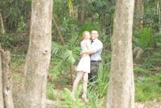 Couple Hugging in Bushland
